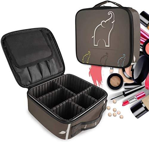 Cosmétique HZYDD Résumé Elephant Imprimer Make Up Sac Trousse de Toilette Zipper Sacs de Maquillage Organisateur Poche for Compartiment Femmes Filles Gratuit