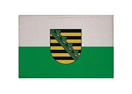 U24 Aufnäher Sachsen Fahne Flagge Aufbügler Patch 9 x 6 cm