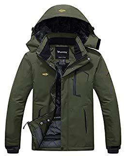 Wantdo Men's Waterproof Fleece Ski Jacket Windproof Snow Jacket Army Green M (B07B2T3NSK) | Amazon price tracker / tracking, Amazon price history charts, Amazon price watches, Amazon price drop alerts