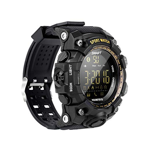 Gymqian Smartwatch Deporte Al Aire Libre Estilo de Camuflaje Carga Gratuita Ip67 Impermeable Bluetooth Largo Standwatch Smartwatch Control Remoto Foto Largo Standby Smart Watch, Gre