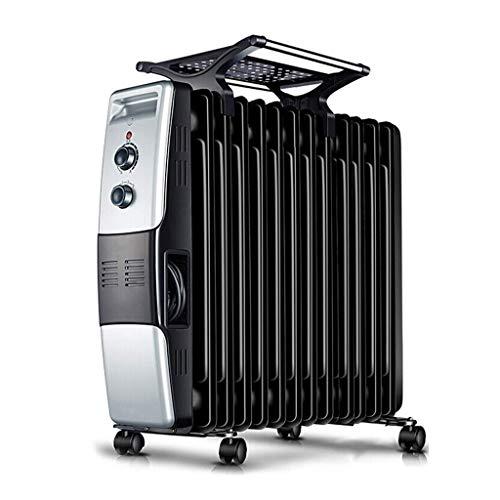 alvyu Ölradiator, energieeffiziente Heizkörper/intelligente Thermostat, Dumping Power Off/Überhitzungsschutz und 3 Stromeinstellung Mit Wäschetrockner Schwarz