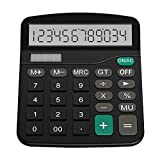 Sunnyflowk Plastic Solar Computer Business Finance Office Calculator 12-Bit Desktop Calculator...