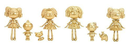 Mini Gold Lalaloopsy Bundle- Limited Edition Includes 6 Dolls, Elephant, and Cat