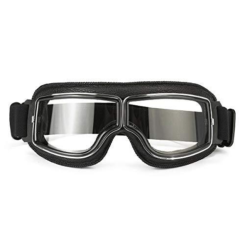 MASO Helmbrille Anti-UV Windschutzbrille Motorrad Motorrad Biker Clear