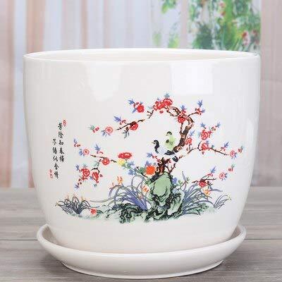 Ferry Keramik-Blumentöpfe, Bonsaischale, Balkon Blumentöpfe mit Tablett, im chinesischen Stil große Töpfe für Pflanzen, Blumentöpfe Drop Shipping: 18 Style, Große