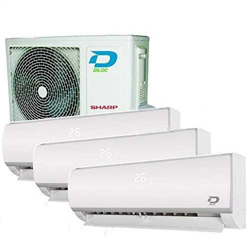 TRIO SPLIT KLIMAGERÄT SMART WIFI 12+12+12 DILOC R32 KOMPRESSOR SHARP INVERTER