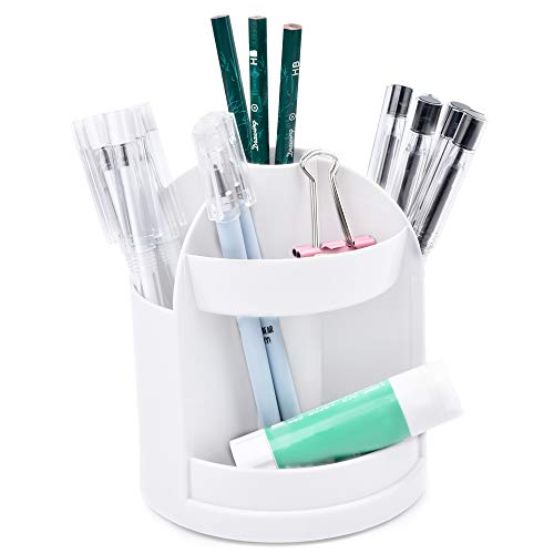 Ushinemi Desk Organizers, Pen Holder for Desk, Pencil Holder Office Desk Organizer, White