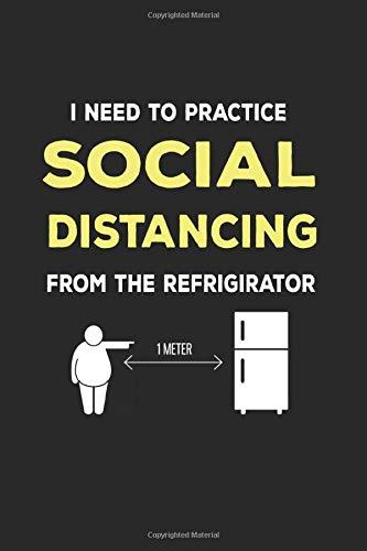 Distanziamento sociale dal frigorifero: Regalo del frigorifero del blocco note di disciplina sociale