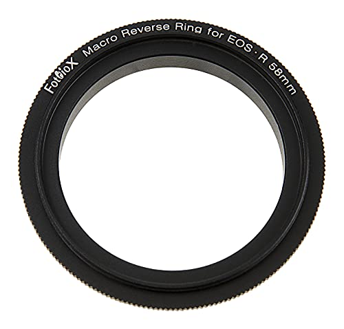 Macro - Anillo inverso (58 mm, compatible con Canon RF, montaje de cámara a 58 mm, adaptador de rosca de filtro para cámaras Canon RF, sin espejo
