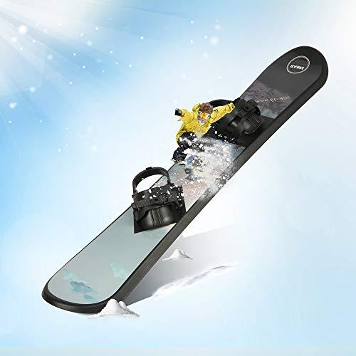 LONABR Plastic Snowboard with Adjustable Binding Kid's Snowskates 43/48Inch Freeride