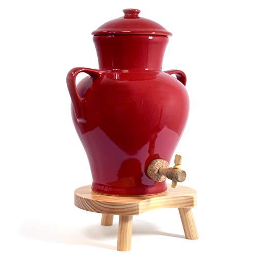 Duhalle 215 Vinaigrier Céramique Rouge Flamboyant 4 L