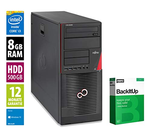 Fujitsu Celsius W530 MT - Core i3-4130 @ 3,4 GHz - 8GB RAM - 500GB HDD - DVD-ROM - Win10Home (Zertifiziert und Generalüberholt)