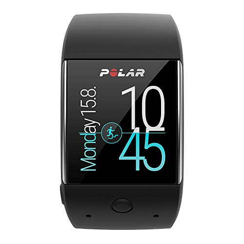Polar Unisex's M600 Sports Watch Powered by Android Wear, Black, Medium-Large