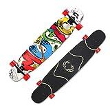 MKJYDM Plataforma de Skate for Principiantes ES-11 Cromado de Acero de Alta Velocidad Rodamiento silencioso Plataforma de Skate de Arce patineta (Color : C)