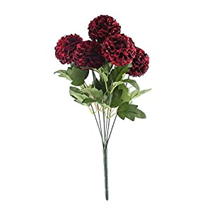 BalsaCircle 16-Inch Tall 28 Burgundy Chrysanthemum Mums Silk Artificial Flowers Wedding Party Centerpieces Arrangements Bouquets Supplies