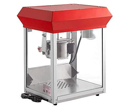Review Popcorn Machine - Red Matinee Movie Theater Style Countertop Foundation Popcorn Maker Machine...