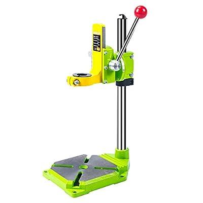 AMYAMY Floor Drill Press/Rotary Tool Workstation Drill Press Work Station/Stand Table for Drill Workbench Repair,drill Press Table,Table Top Drill Press90? Rotating Fixed Frame