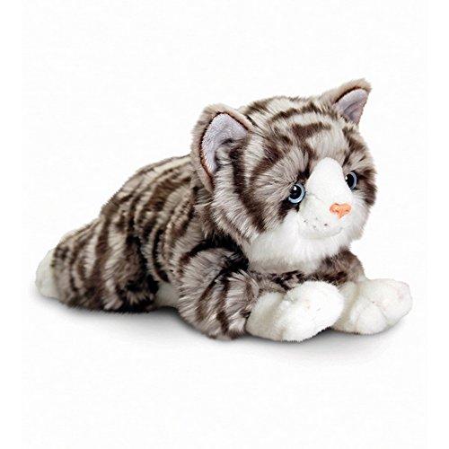 Graue Katze Stofftier
