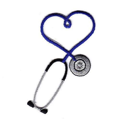 STETHOSCOPE Blue Iron On Patch Medic Doctor/Nurse, Medic