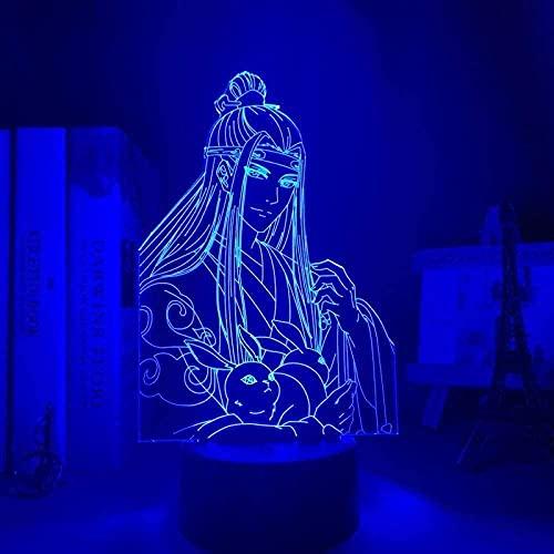 XIENIUNIU - Luz nocturna para niños, luz de ilusión 3D, 16 cambios de color con control remoto, juguetes de acrílico para niños, Navidad, Halloween, regalos de cumpleaños