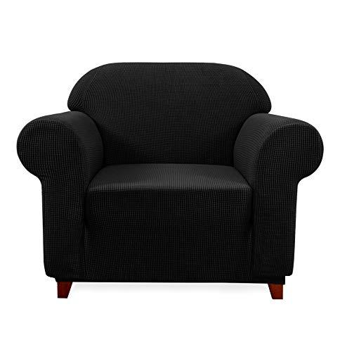 Subrtex Spandex Sofabezug Stretch Couchbezug Sesselbezug Elastischer Antirutsch Sofahusse (1 Sitzer,...