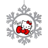 OPKSHNT Hello Kitty Ornament Christmas Tree Decoration for Family Home Shopping Mall Club Hanging Tree Snowflake Ornament 1 PCS