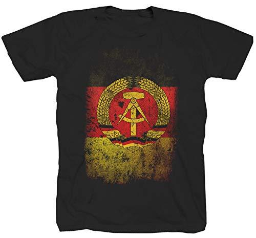 DDR Fahne schwarz T-Shirt (S)