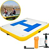 Happybuy Inflatable Floating Dock 6'x 5'x 6 inches Thick Inflatable Dock Platform 3-5 People...