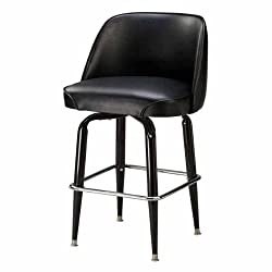 Regal Bucket Seat Classic 26 in Square Base Black Metal Counter Stool