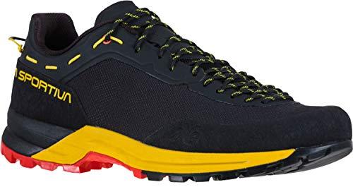 La Sportiva Men's TX Guide Rock Climbing Shoes, Black/Yellow, 45.5