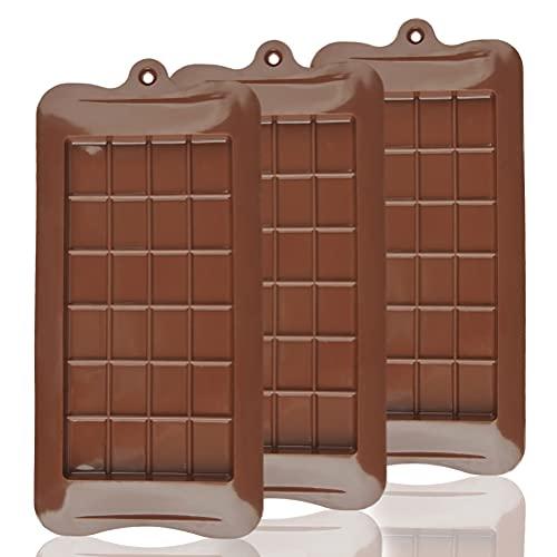 Lot de 3 Moules En Silicone Pour Chocolat Moule Tablette de Chocolat Petit Moule En Silicone Semi-SphéRi Quemoules à Chocolat Break-Apart,Pour La Fabrication De Chocolat, GâTeaux, Et Mousse à DôMe