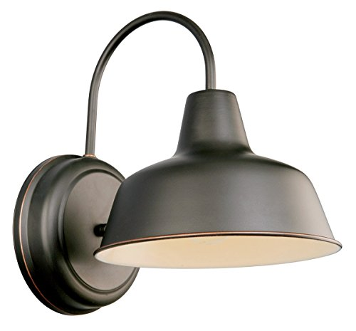 Design House 519504 Mason 1 Light Wall Light, Oil Rubbed Bronze (Renewed)