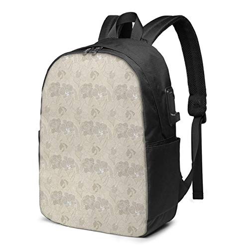 Laptop Backpack with USB Port Ivory 25, Business Travel Bag, College School Computer Rucksack Bag for Men Women 17 Inch Laptop Notebook