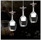 H.L Colgante Creativo Luz LED 3 luz araña de Cristal Nueva Taza de iluminación de Techo Adecuado para Comidas de Alta Gama Personalidad Bar decoración Accesorio Ventiladores para el Techo con lámpara