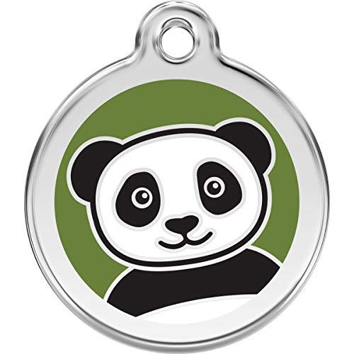 Red Dingo Personalized Panda Pet ID Dog Tag (Medium)