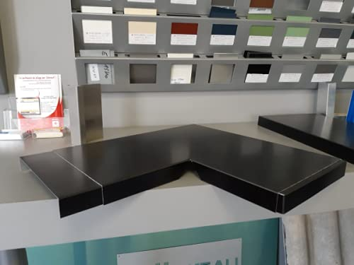 ANGLE DE COUVERTINE ALUMINIUM (GAMME 320-XL, RAL 7016 SATINE GRIS ANTHRACITE)