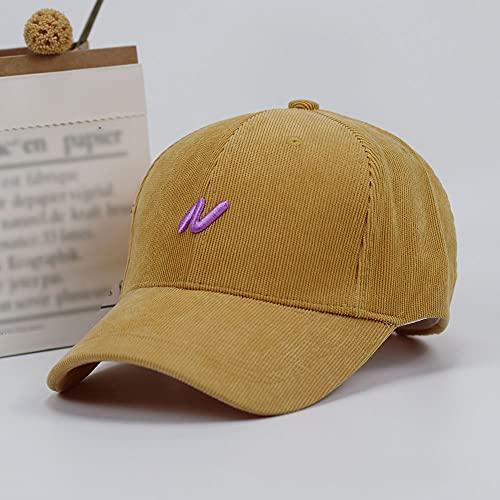 KMYX Gorra de béisbol de Pana Gorra Snapback Retro Hombres Mujeres Hip Hop Gorra de papá Protección UV Sombrero de Camionero Correr al Aire Libre Gorra con Pico Moda Casual