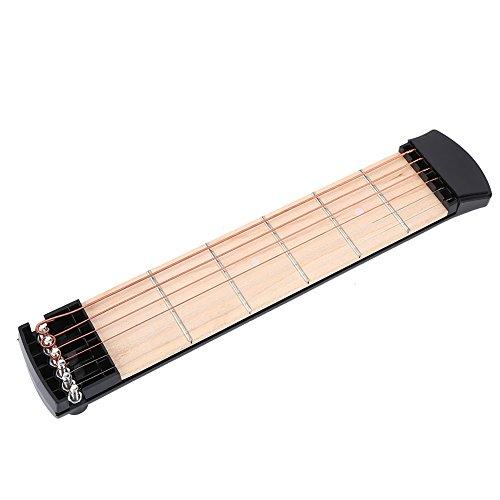 VGEBY1 Taschengitarre, 6 Bünde für die Linke Hand Tragbare Taschengitarre Übungshalsgitarre Akustisches Übungswerkzeug Taschengitarren-Akkordtrainer