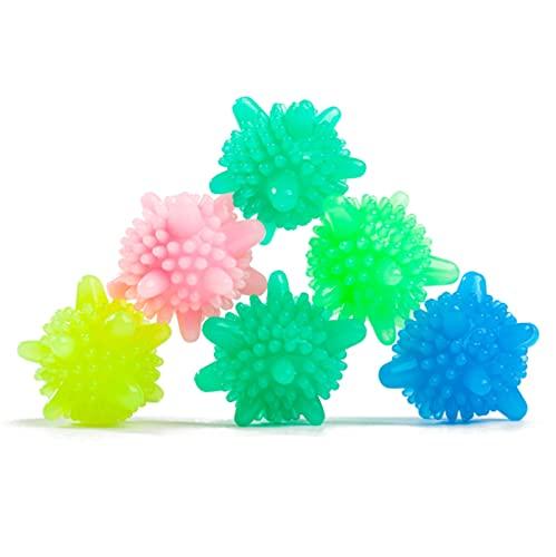 N\C Descontaminación mágica bola de lavandería Pvc colorido estrella de mar lavadora bola sólida fuerte descontaminación y anti-enredos 10 unids