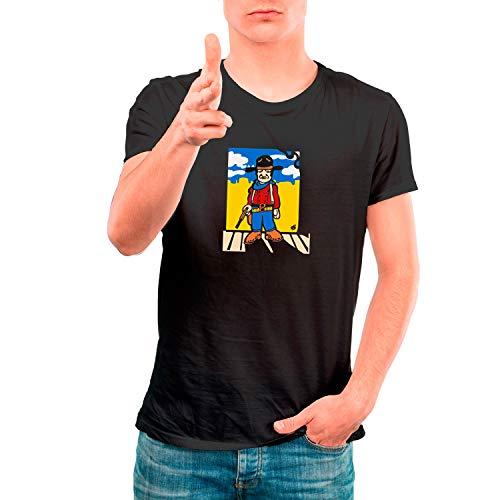 DibuNaif Camiseta Cine Hombre - Unisex Centauros del Desierto, Ethan Edwards - John Wayne