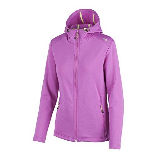 CMP Fleecejacke Funktionsjacke Jacket LILA Stretch ATMUNGSAKTIV Kapuze 3E65146 (36)