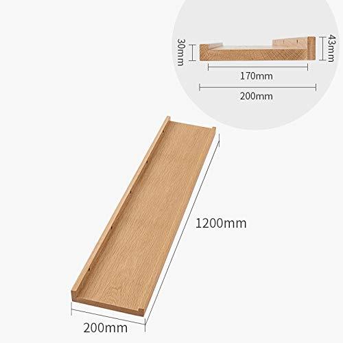 Zwevende Planken, Houten Decoratieve, Zwevende Plank Tv-Componenten, Garage/Schuur/Magazijn/Vrijstaande Opslagplanken,Eiken Plank-Kleur Hout_1200X200Mm