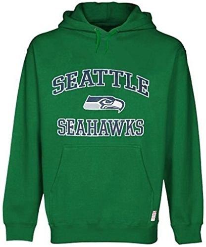 Seattle Seahawks NFL Majestic HD Therma Base Mens Kelly Green Hoodie Big Sizes (3XL)