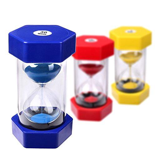 Schramm® Reloj de Arena XXL Reloj de Arena de 30 Minutos Reloj de Huevo Reloj de Arena Reloj de Tiempo Corto Reloj de Arena