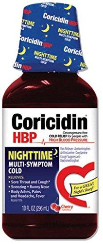 Coricidin HBP Nighttime Cold Cherry 12 oz (2 Pack)