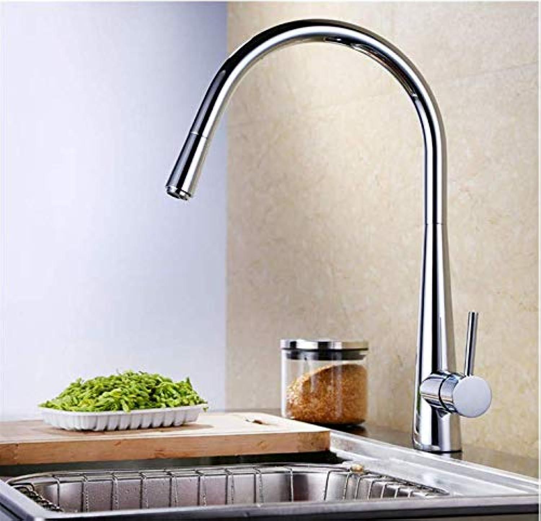 Wasserhahn Badewanne Wasserfall Alle Kupfer Küchenarmatur Rotation-Drawable Küchenmischer Einhebel-Hebel (Farbe  -, Gre  -)