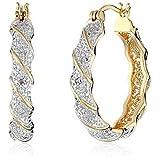 ジュエリー/レディース/アンクレット/イヤリング/ピアス/Elegant 18k Gold Filled White Topaz Dangle Drop Earrings Women Jewelry Gift New