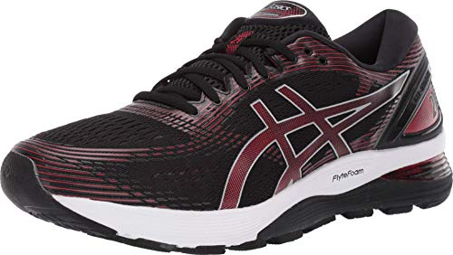 ASICS - Mens Gel-Nimbus 21 Shoes, 10.5 UK, Black/Classic Red