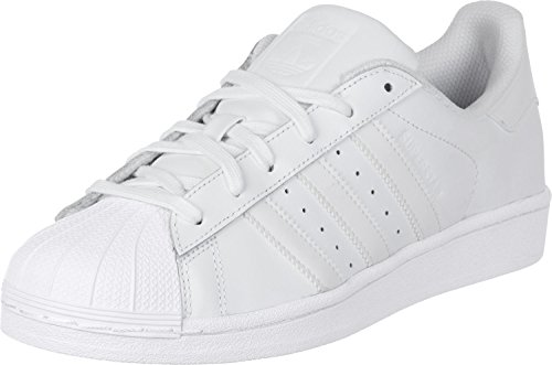 adidas Unisex Adult Superstar Low-Top Sneakers, White (Ftwr White/Ftwr White/Ftwr White), 8 UK (42 EU)