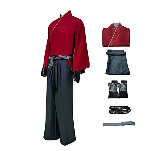 Ghost of Tsushima: Sakai Jin Disfraz de Cosplay Conjuntos completos - Traje de Halloween de Uniforme de samuri japons para Adultos y Adolescentes